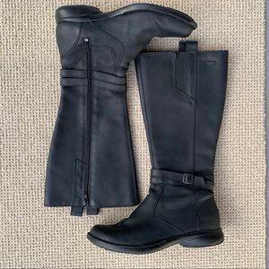 Merrell Tetra Strap Black Leather Boots 8.5